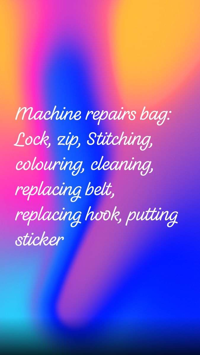 Advance shoe machine repairing following problems
